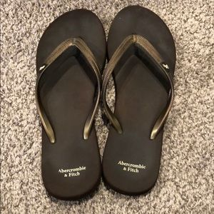 Abercrombie and Fitch Brown Flip Flops